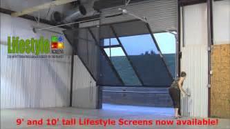 Overhead Garage Door Screens Lifestyle Screens Adds 9 H And 10 H Garage Door Screen