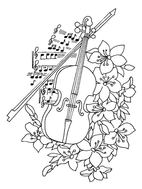 Musical Instrument Coloring Book Pages | kids n fun com 62 coloring pages of musical instruments