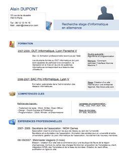 Exemple De Cv étudiant by Exemple D Un Cv En Francais Gratuit Sle Resume