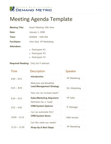 11 meeting agenda templates doc best agenda templates