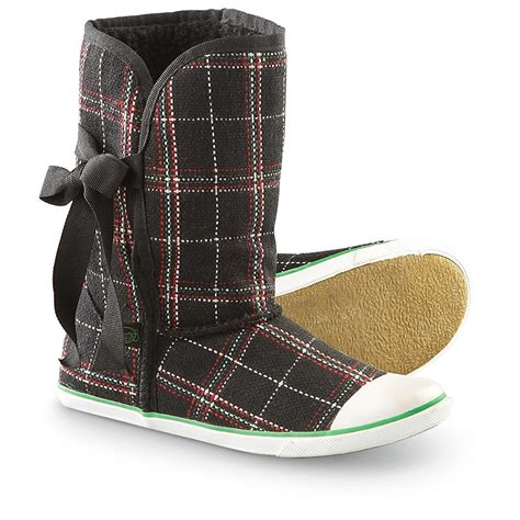 Sugar Boots Origami - s sugar 174 origami fleece boots black plaid 158353