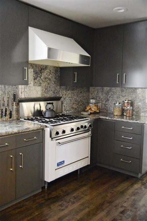 grey stained wood kitchen cabinets incredible kitchen cabinet makeover from blond wood to