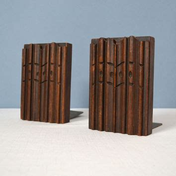 Handmade Wooden Bookends - vintage handcrafted wooden bookends from midmodmomstore on