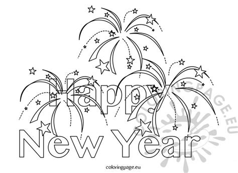 clip happy new year coloring pages