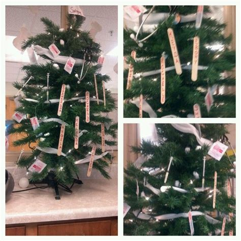 christmas tree decorations for nurse graduate a tree the nurses decorated it with supplies great idea for a