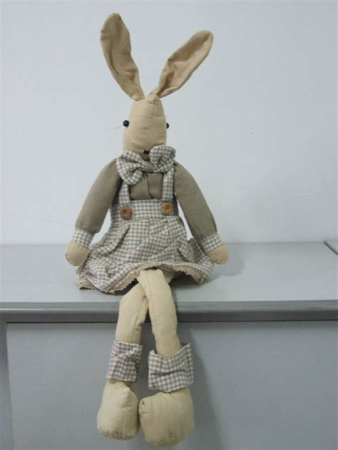 Handmade Stuffed Bunny - cloth handmade bunny stuffed rabbit doll with