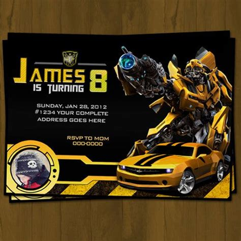 transformer invitation template 17 best images about transformers on