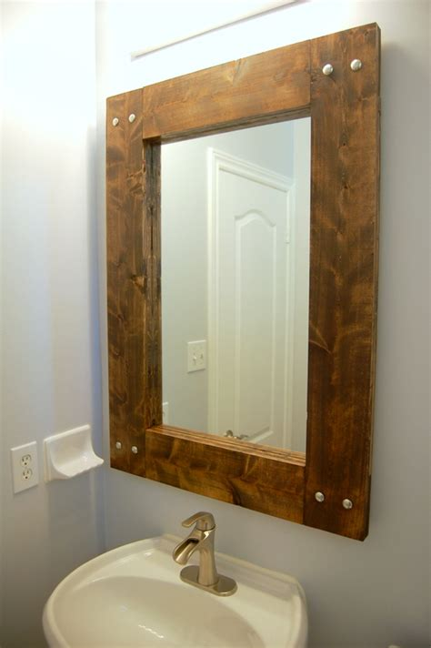 how to frame out that builder basic bathroom mirror for how to build and decorate with rustic mirror frames