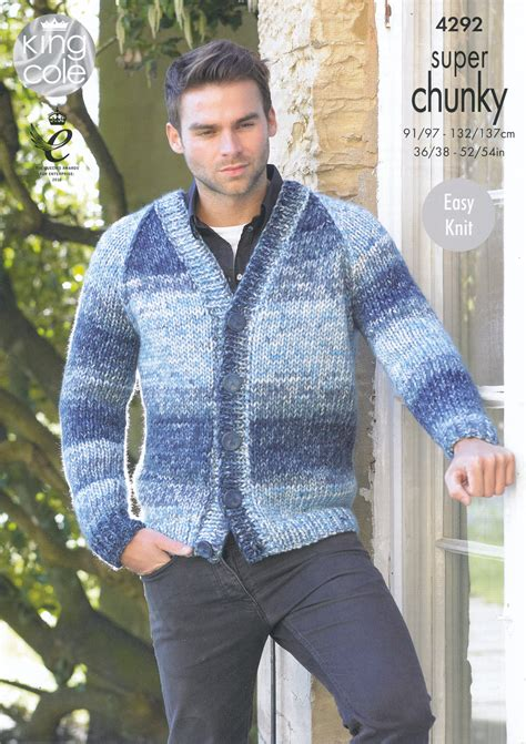 knitting pattern mens zip cardigan mens sweater pattern chunky full zip sweater