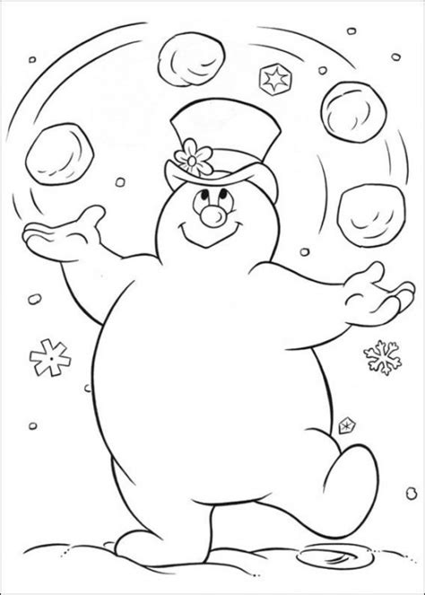 printable coloring pages snowman free printable frosty the snowman coloring pages best