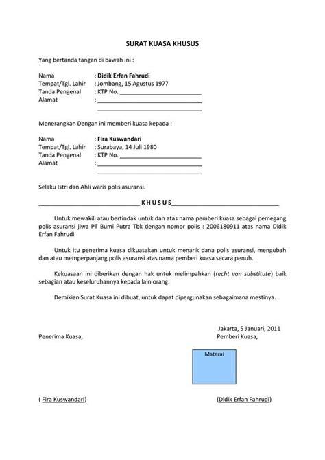 contoh surat kuasa lengkap 4d1jonk medium contoh surat kuasa lengkap 4d1jonk medium