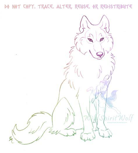 Wolf Sitting Drawing wolf sitting drawing