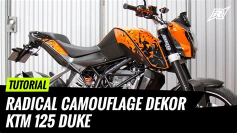 duke 125 dekor tutorial radical camouflage dekor ktm 125 duke