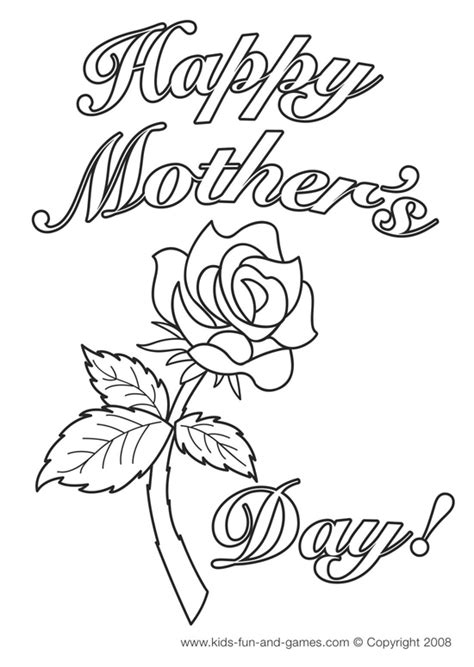 coloring page for s day mothers day coloring happy mothers day