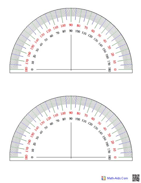 printable protractor with lines geometry worksheets angles worksheets for practice and study