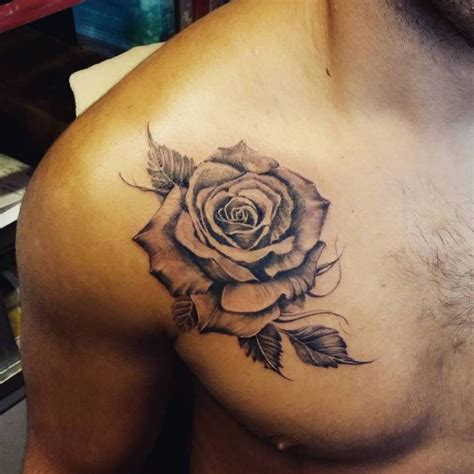rose tattoo guys chest designs ideas and meaning tattoos for you