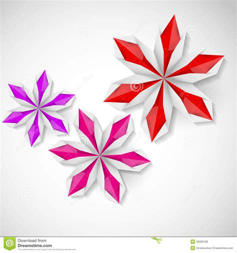 Origami White - flower origami on a white background royalty free stock