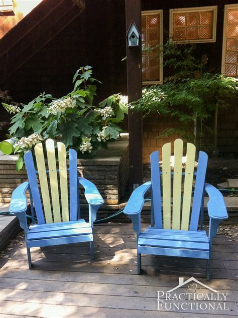 How To Paint An Adirondack Chair by Diy Painted Adirondack Chairs