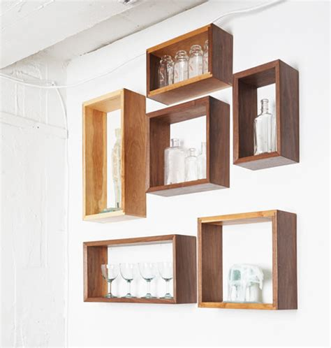 open wall shelves simple elegant walnut cherry wall shelf box open back