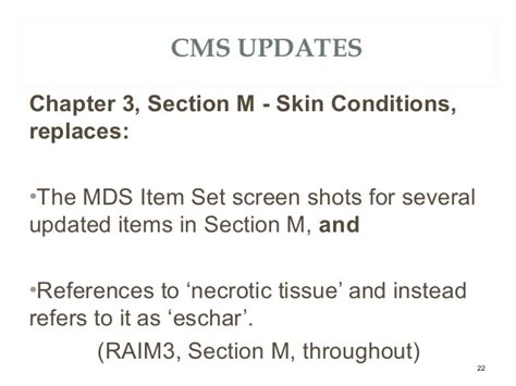 mds 3 0 section m atx34 quot mds 3 0 rai cms updates frequent coding issues