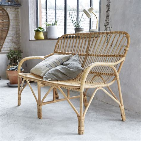 double armchair tikamoon natural rattan double armchair