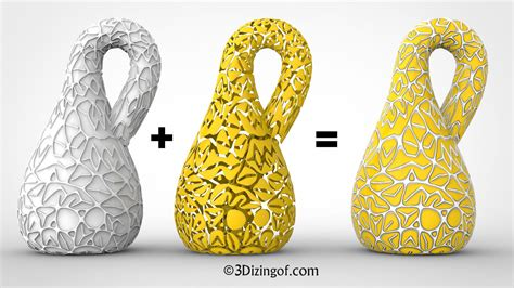 pattern making with 3d printer dizingof s random infinite pattern and klein bottle