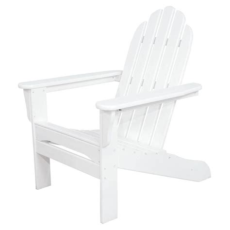 us leisure adirondack chair white us leisure chili patio adirondack chair 167073 the home