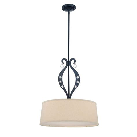 home depot ceiling ls illumine designer 3 light black chandelier cli ls 19642