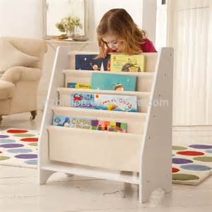 5 level tier wooden childrens canvas book shelf display