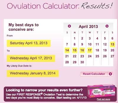 Calendar When To Take A Pregnancy Test Response Ovulation Calculator Gets It Wrong