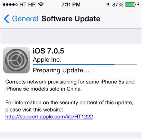 iphone update ios 7 apple releases ios 7 0 5 with minor bug fixes for select