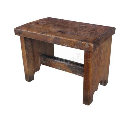 sgabello antico sgabello di legno antico isolato immagini stock immagine