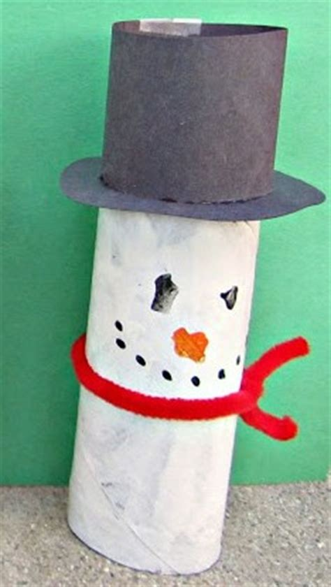 Toilet Paper Roll Snowman Craft - 10 snowman crafts treats and activities for indoor winter