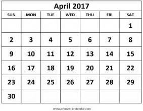 Calendar 2018 Aprilie Print April 2017 Calendar