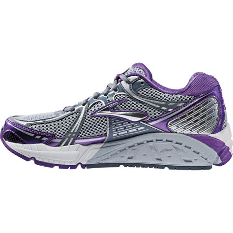 motion running shoes womens addiction 11 road running shoes purple silver b width