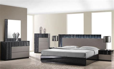 roma bedroom furniture roma black and grey lacquer platform bedroom set from j m