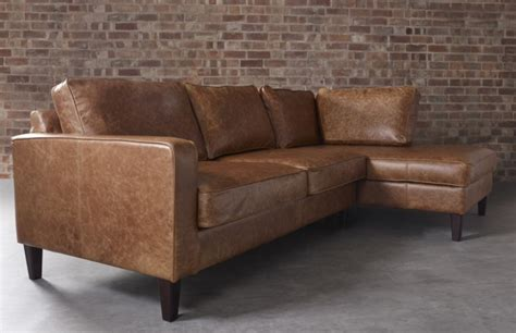 Drake Leather Chaise Sofa Leather Corner Sofas Leather Sofas Made In Uk