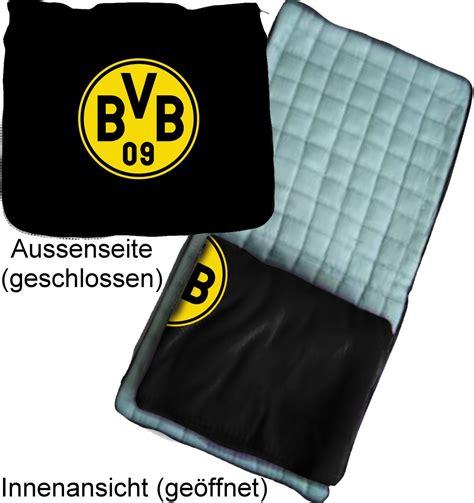 BVB 09 Sitzkissen Set mit Fleecedecke