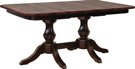 amish queen anne dining room table amish queen anne double pedestal table