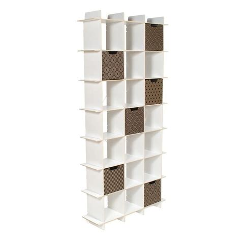 Modern 21 Cube White Tall Bookcase Sprout White Cubby Bookcase
