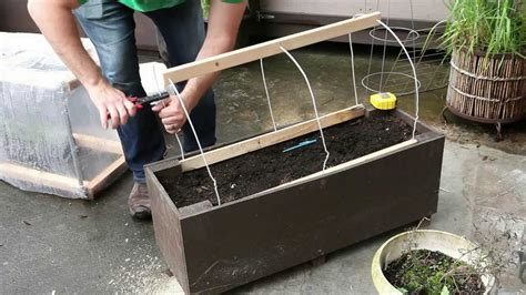 how can i build my at home patio gardening home made planter box greenhouse vancouver