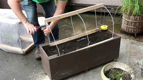 Patio Gardening   Home Made Planter Box Greenhouse