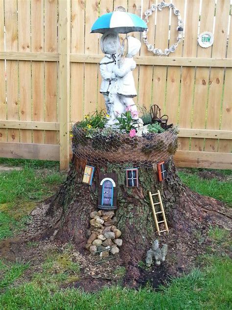 Garden Tree Decoration Ideas by 12 Best Stump Gardening Images On Gardening