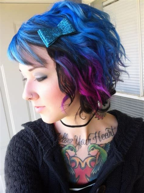 embry hair dying style purple and blue hair tumblr potential hair styles
