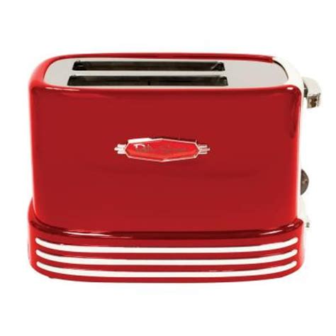 Retro Series Toaster nostalgia electrics retro series 50s style 2 slice toaster in rtos200 the home depot