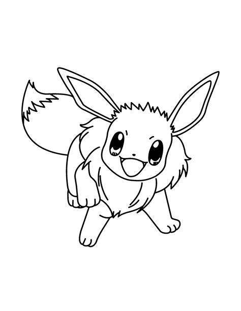 cute pokemon coloring pages eevee cute pokemon eevee drawings sketch coloring page