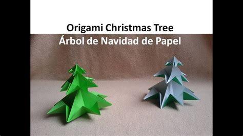 origami christmas tree arbol de navidad de papel diy