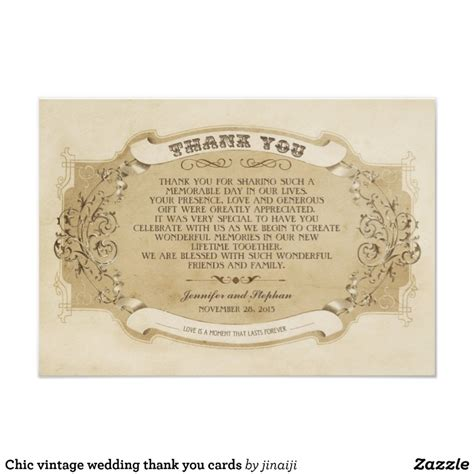 chic wedding thank you cards chic vintage wedding thank you cards zazzle