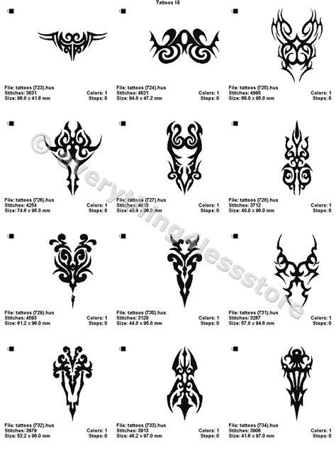 4x4 tattoo designs 48 tattoos 4x4 volume 16 mega embroidery designs on cd