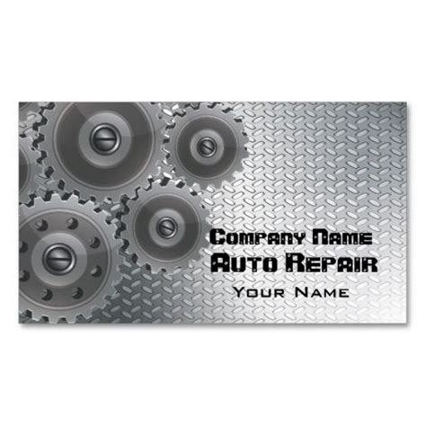 card template mechanic 311 best auto repair business cards images on